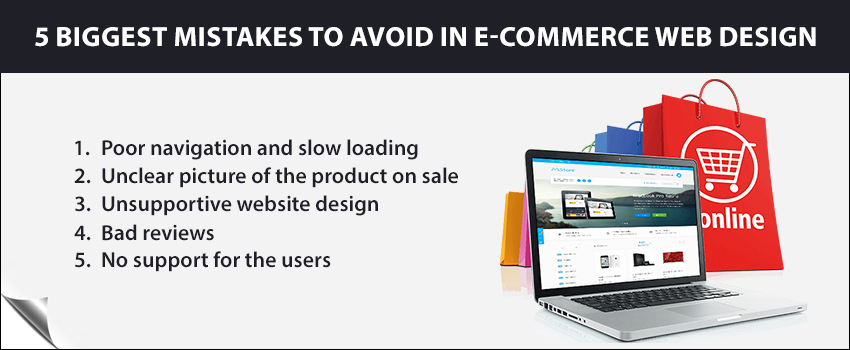 5 biggest mistakes to avoid in e-commerce web design
